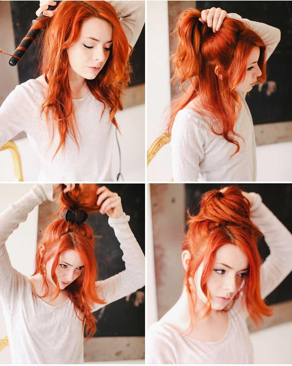 Kızıl Saçlar İçin Sevimli Topuz