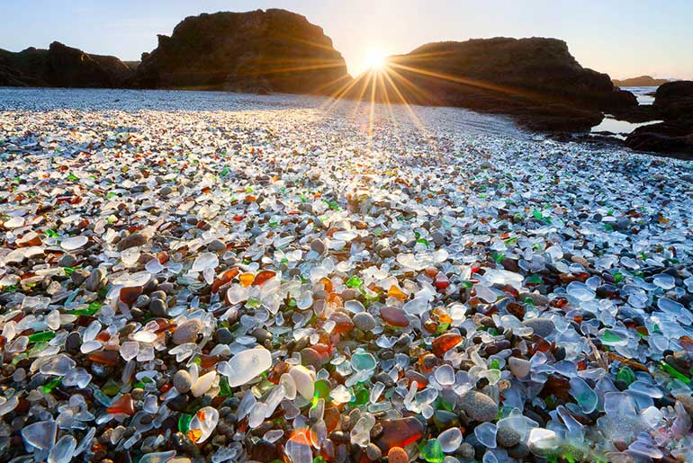 Cam Sahil/Glass Beach (Kaliforniya-Amerika)