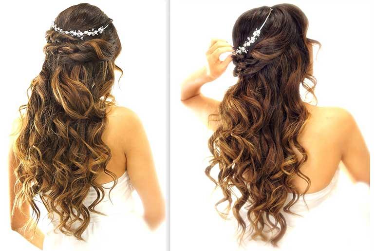 Gelin Saçı Çekici Dalgalı Açık Model
