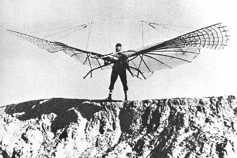 Otto Lilienthal Planör Uçuş Denemesi